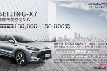 BEIJING-X7首发预售10万-15万元不久后将推插电混动车型